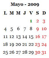 Mayo 2009