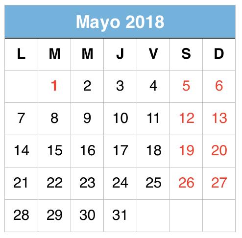 Mayo 2018